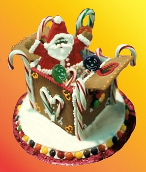 Gingerbread House santa in a box